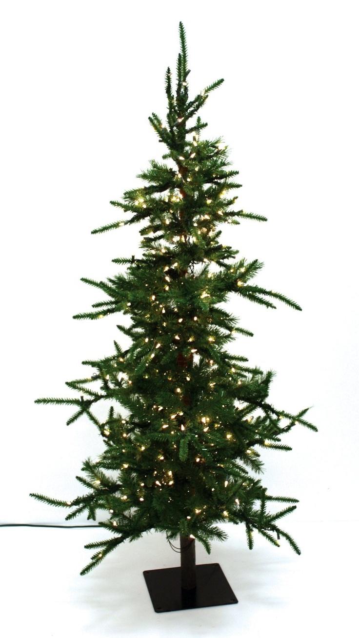Amazon.com: Good Tidings Alpine Artificial Prelit Christmas Tree, 5-Feet, Clear Lights: Home & Kitchen