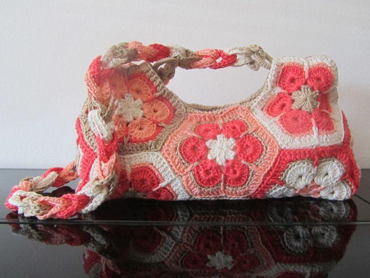 Borsa con esagoni di fiore africano  Borse  Bags