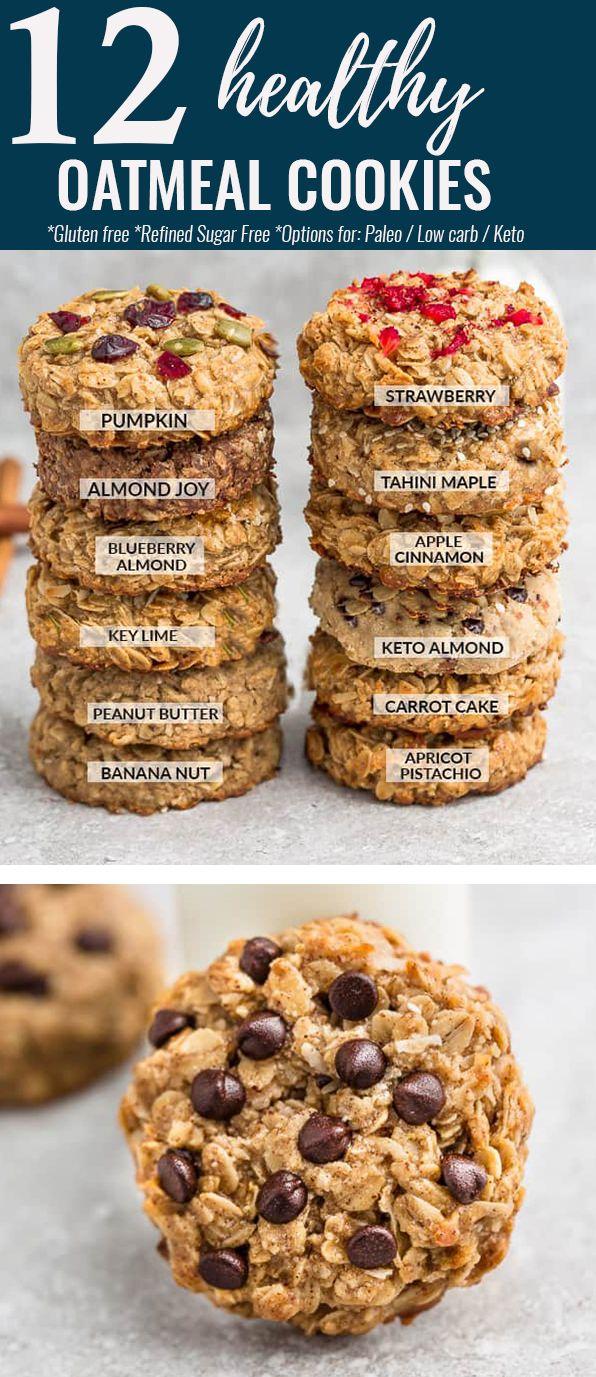 12 Oatmeal Cookies Healthy Oatmeal Cookies Classic Cookies Recipes Healthy Cookies