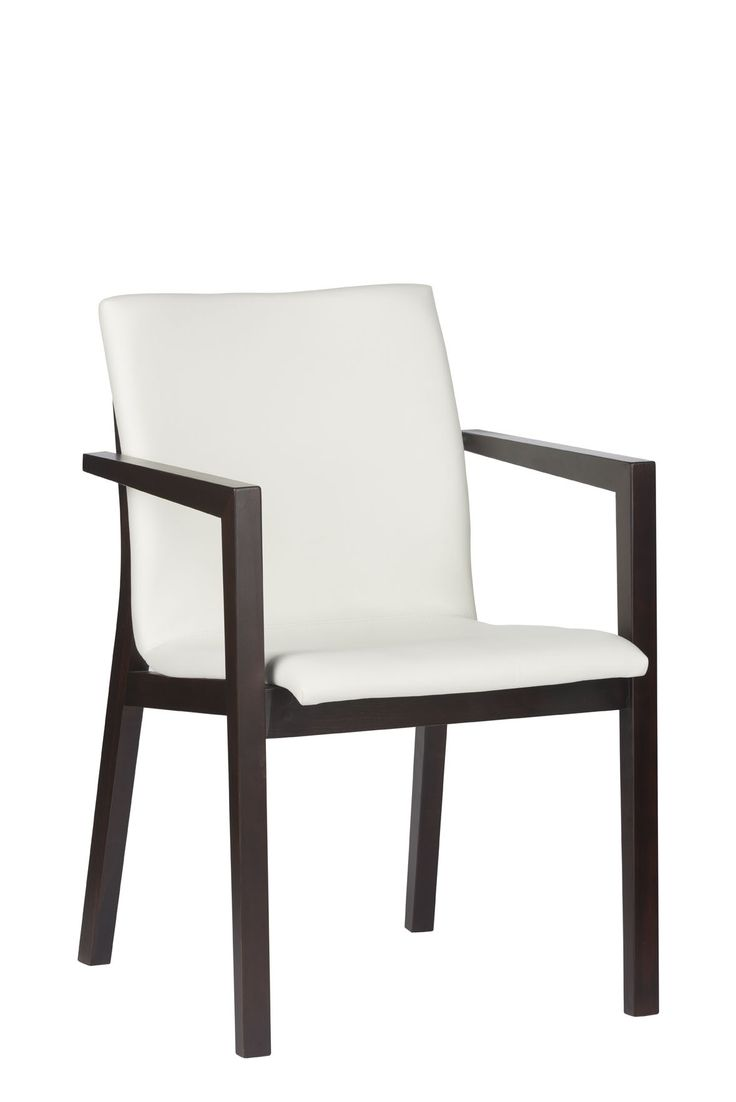 The seat and slightly rounded back are upholstered for optimal comfort. Just sit and relax. Designed by Klose  #diningRoomFurniture #chair #wood #KloseFurniture