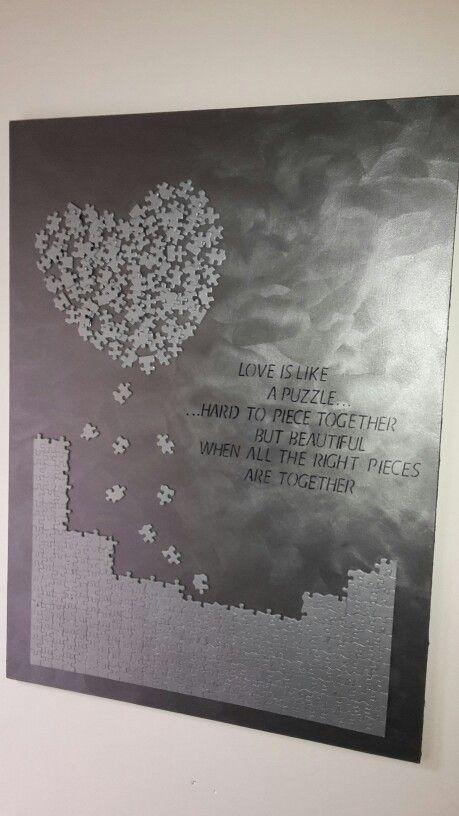 huwelijkscadeau puzzel schilderij