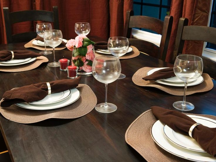 elegant everyday table settings - Dining Room Table Settings