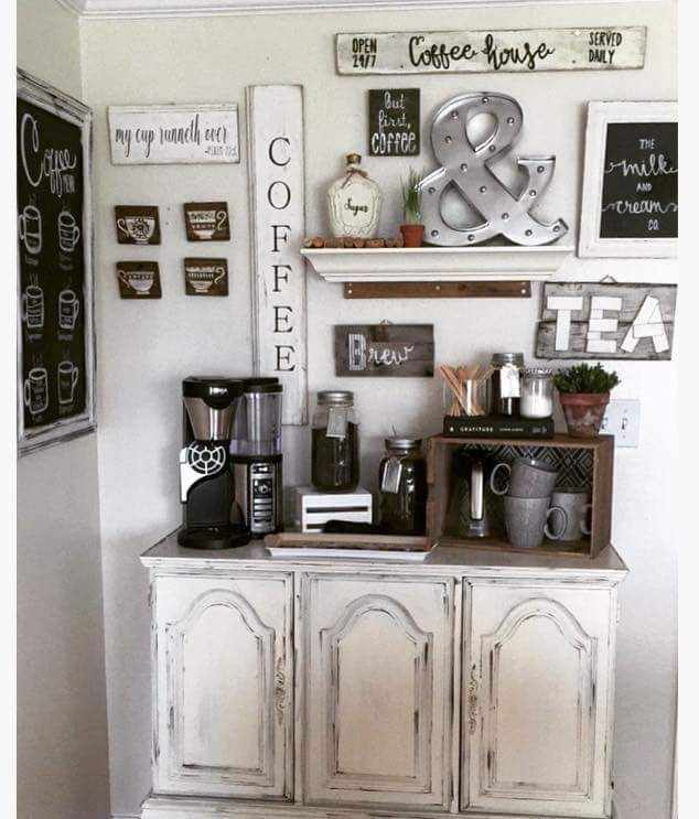 Farmhouse Style Coffee Bar Home Decor Coffee Bar Home Home
