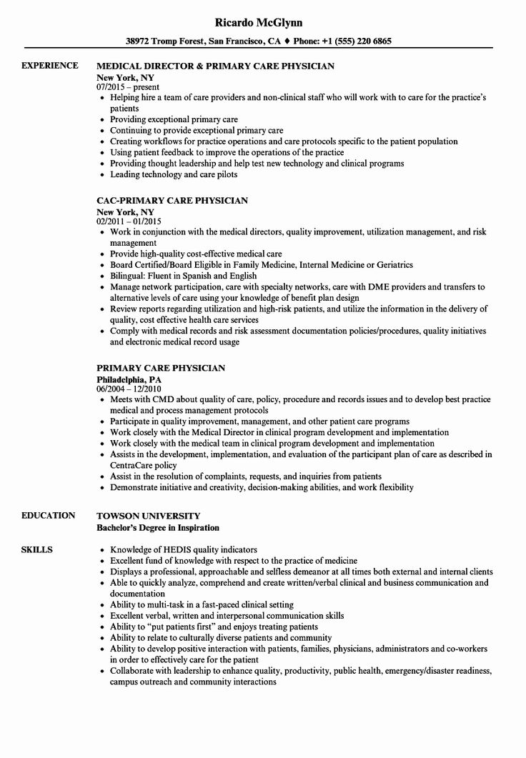 23 Physician assistant Resume Example in 2020 Resume