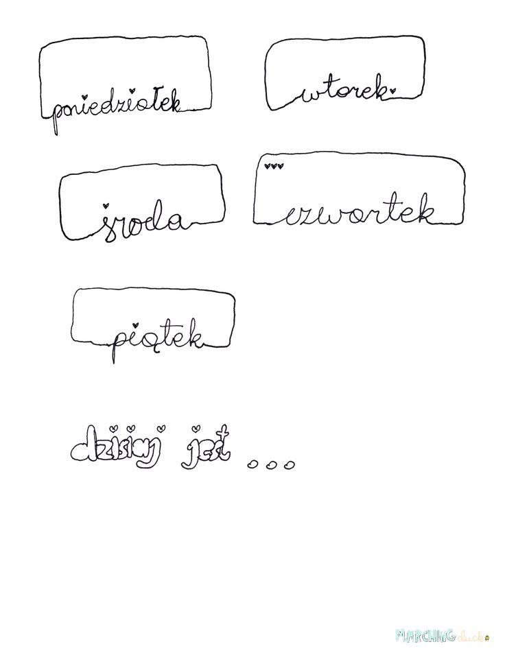 handwritten journaling cards - polish