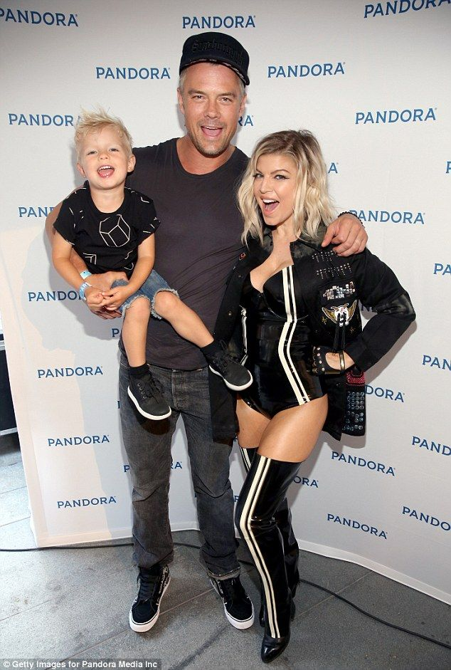 Rockstars: Fergie, husband Josh Duhamel and their two-year-old son Axl attended…