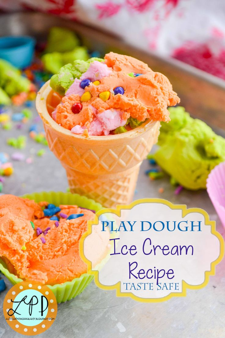 A Little Pinch of Perfect: Play Dough Ice Cream Recipe for Sensory Play