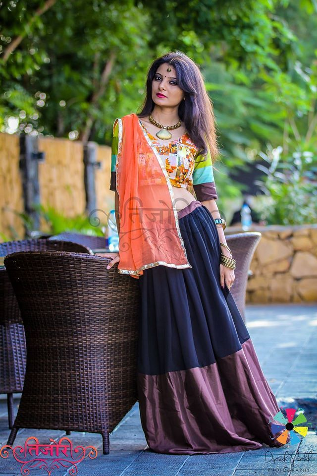 See the beauty in colors <3  MoonlightAndYou#1 Navratri Collection By Nikita…