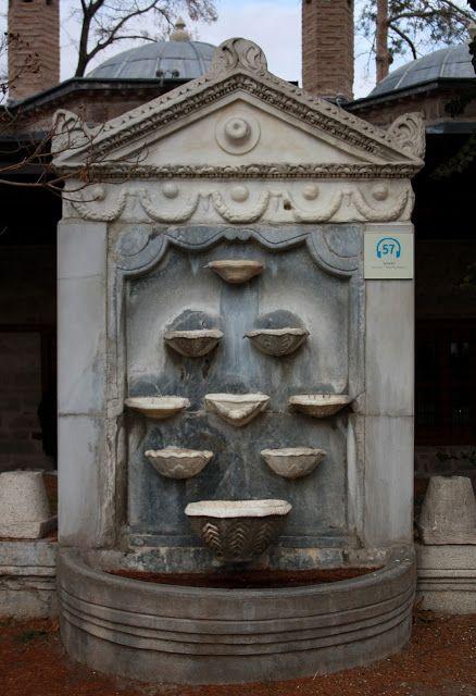 Mawlana Jalaluddin Rumi museum fountain. Konya - TURKEY. (Mevlana Celaleddin Rumi müzesi).
