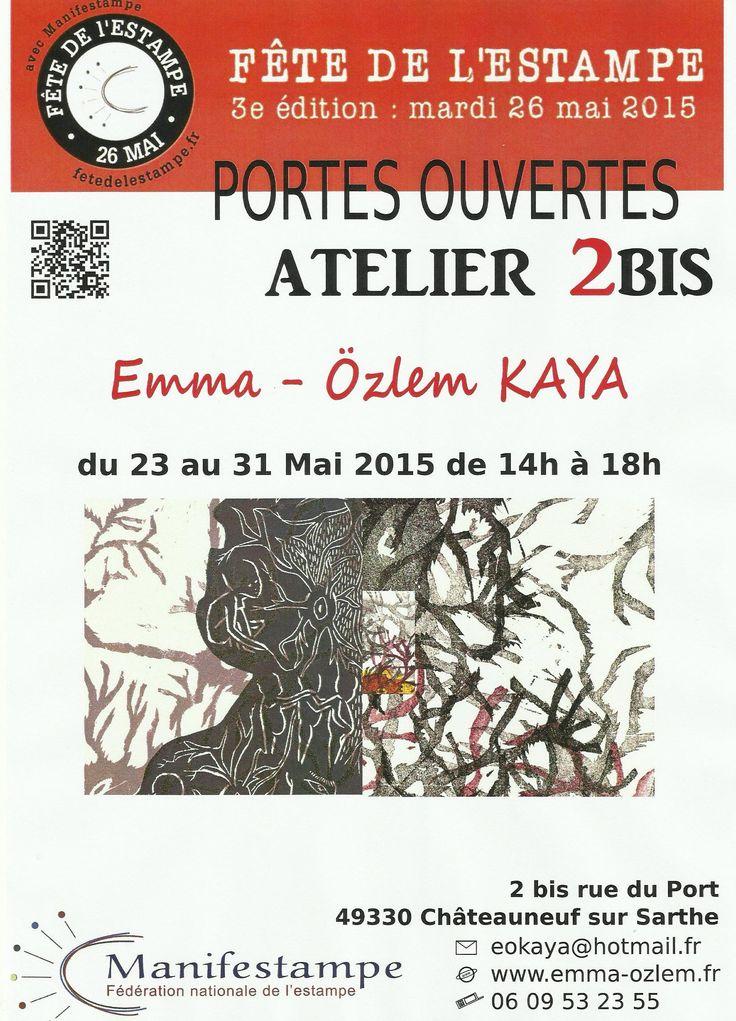 A l'occasion de la Fête Nationale de l'estampe, Emma vous ouvre son atelier de gravure à Châteauneuf/Sarthe. Plus d'informations sur l'artiste