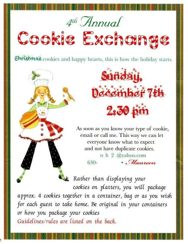 Maureen Hayles Cookie Exchange Invitation