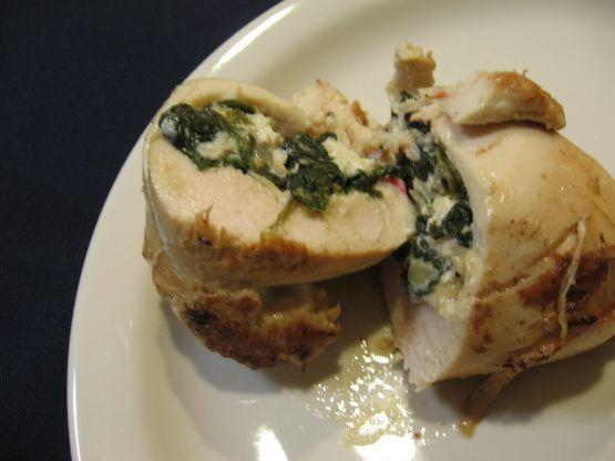 Spinach And Feta Stuffed Chicken Recipe - Greek.Food.com