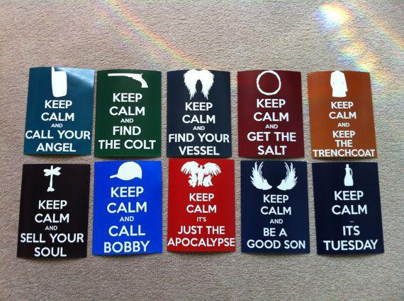 Supernatural Keep Calm Postcards