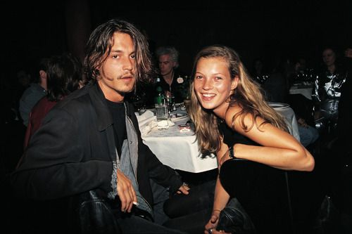 Johnny Depp and Kate Moss <3