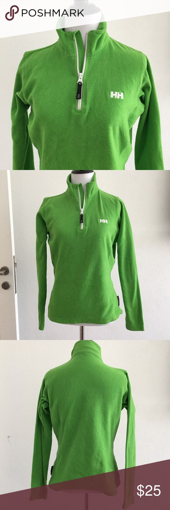 Helly Hansen Green Fleece half Zip Jacket size S Preowned Helly Hansen Green Fleece half Zip Jacket size S. Please look at pictures for better reference. Happy shopping!! T6 Helly Hansen Tops