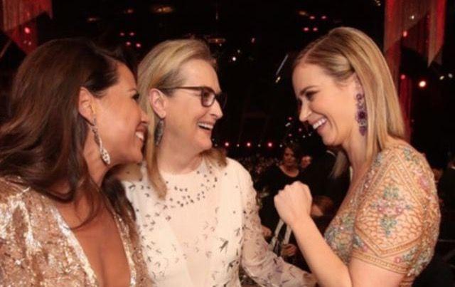 Elizabeth Rodriguez, Meryl Streep & Emily Blunt