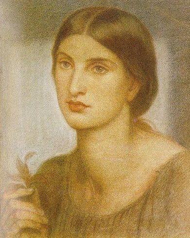 Study of a Girl (sketch and study) - 1867 - Dante Gabriel Rossetti
