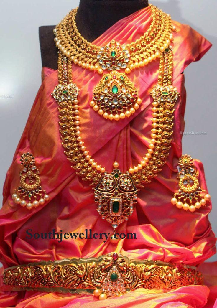 Traditional Uncut Bridal Jewellery Set