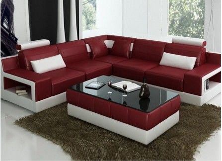 Avery - L - Leather Sofa Lounge Set | bed | Lounge sofa, Living room ...