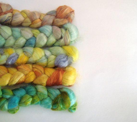 Hand dyed Milk Fiber by deorigenchile on Etsy, $14.00