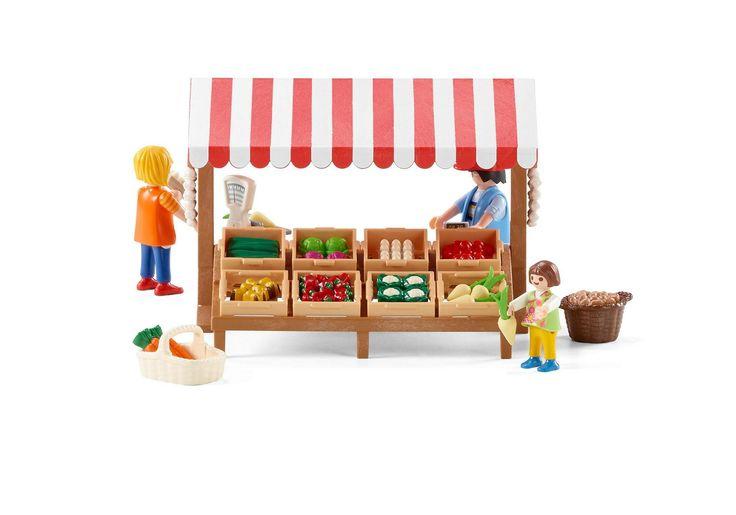 Marchand avec étal de légumes  - 6121 -  PLAYMOBIL® France