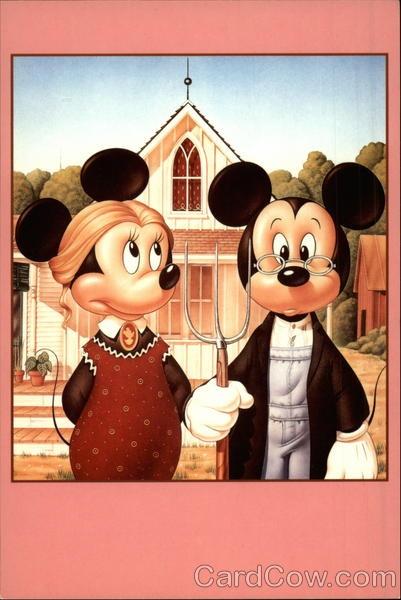 Disney Parody - Grant Wood: American Gothic
