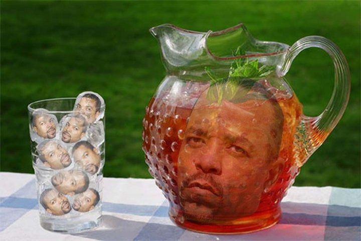 Ice Cubes (Ice Cube - rapper) and Iced Tea (Ice T - rapper