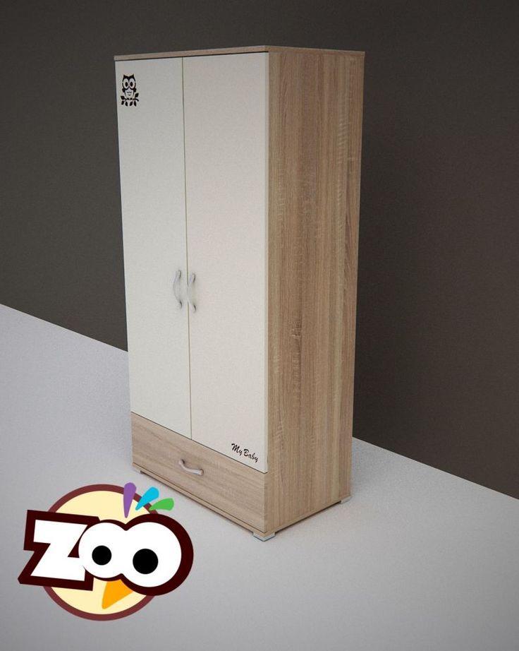 Todi Zoo 2 ajtós 1 fiókos nagy szekrény