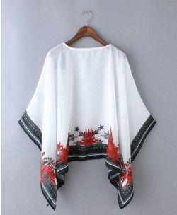 Print Transparent Mantle - Clothing