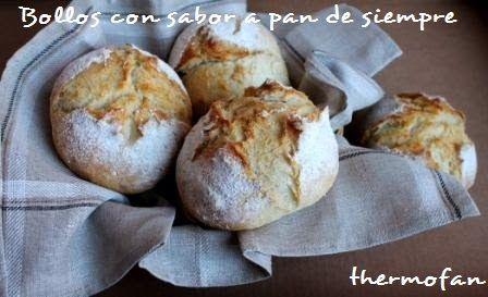 Bollos con sabor a pan de siempre, sin amasado   THERMOFAN