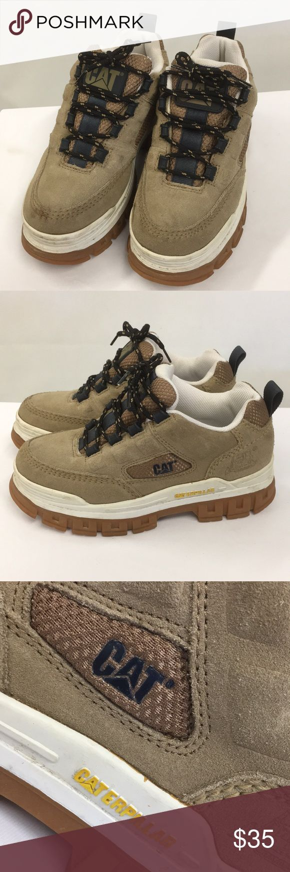 Caterpillar hiking boots with box Nearly new worn once and a very cool and comfy boot. Caterpillar Shoes Combat & Moto Boots
