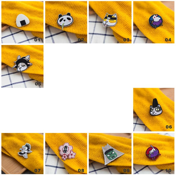 Japanese Cute Cartoon  Embroid Brooch Cloth Bags Badge MG596 - Thumbnail 4