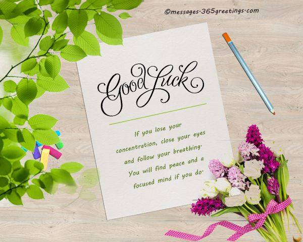 Good Luck Messages, Wishes and Good Luck Quotes