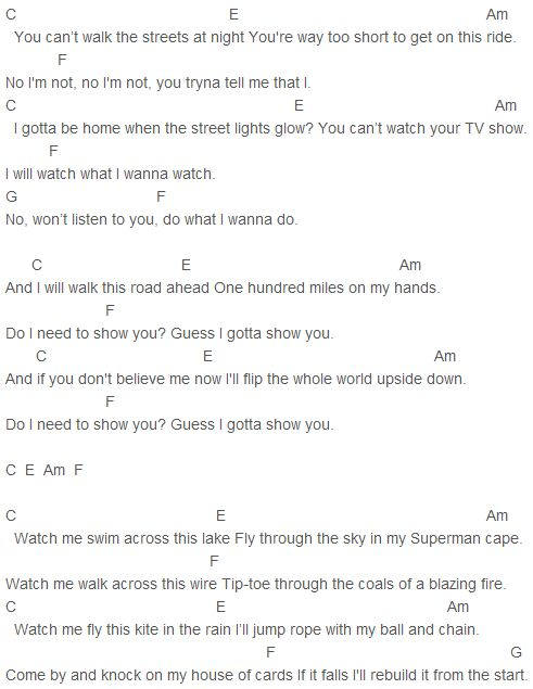 Shawn Mendes - Show You Chords Capo 2
