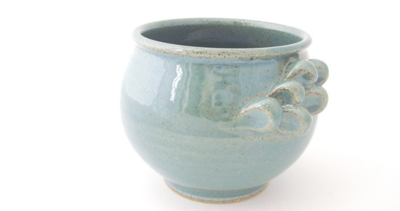 Handmade Little Winged Teacup in Robins Egg Blue