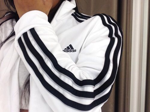 white 'training' jacket #adidas