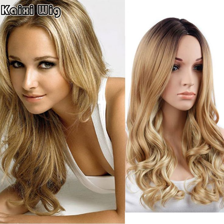 Long Curly Blonde Wig 26'' Long Synthetic Wigs For Black Women Natural Ombre Blonde Wigs Women Natural Cheap Sexy Wigs Cosplay