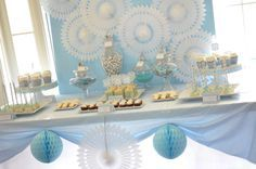 Baby Blue and Silver (Grey) Baptism Party Ideas | Photo 9 of 19 | Catch My Party