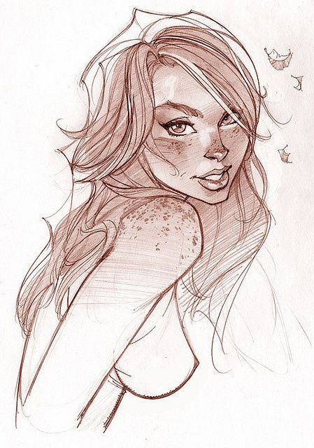 Mary Jane a sketch by J. Scott Campbell.