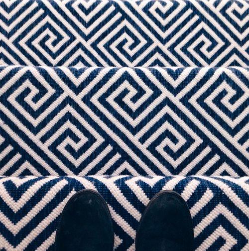 Cobalt blue carpet | Image source: Tori Aston Photography, Stark Carpet
