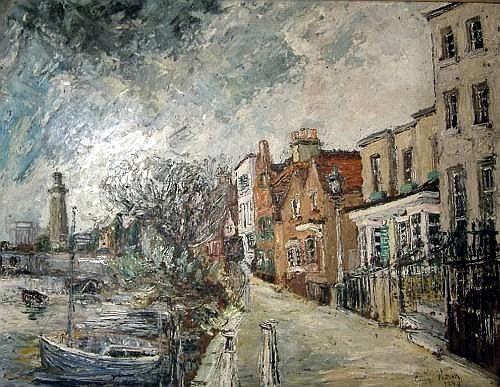 George Hann (20th C.) Chiswick, The Strand, 22 x 29 ins.