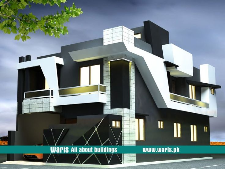 Waris House 3d View Elevation 30X55 in Gujranwala ...