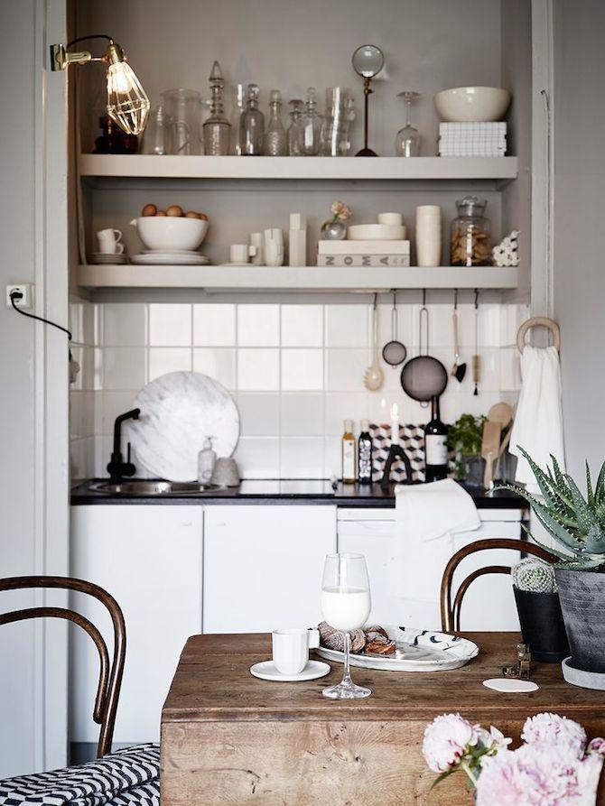 open shelves - swedish style