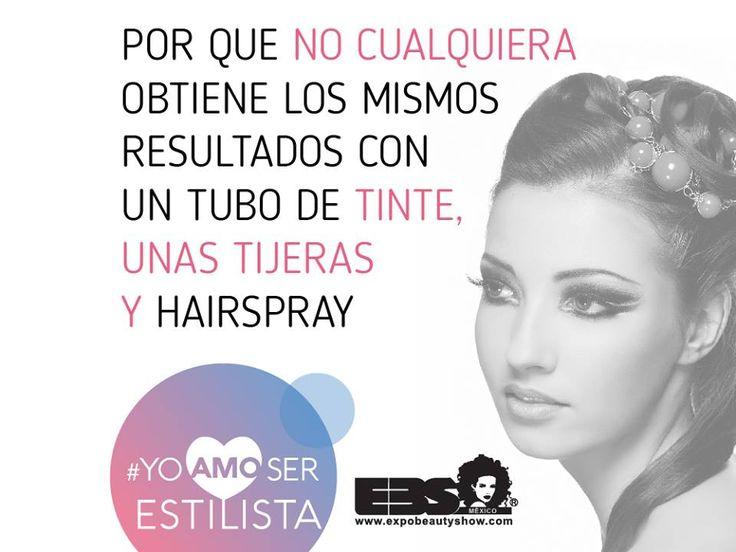 Por que no cualquiera obtiene los mismos resultados con un tubo de tinte, unas tijeras y hairspray #YoAmoSerEstilista #ExpoBeautyShow