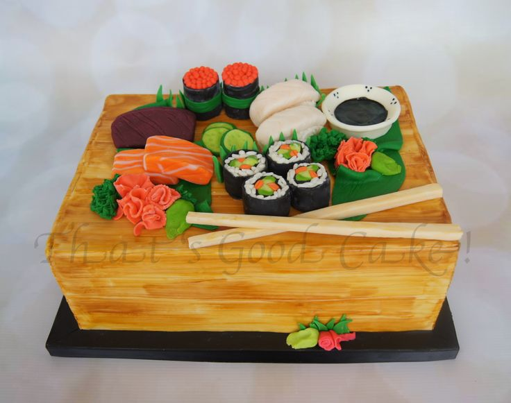 sushi wedding cake uk sushi cake fondant covered cake with modeling chocolate 20663