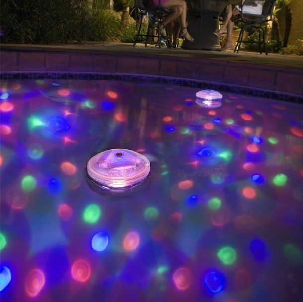 Bring a kaleidoscope of light to bathtime... This watertight battery operated light has five different light shows for your bath or pool and it just floats away...