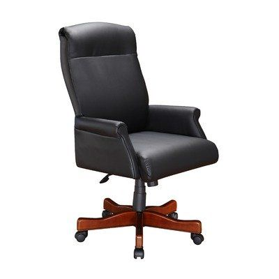 Traditional office chair - Pin it :-)  Follow us :-)) AzOfficechairs.com is your Office  chair Gallery ;) CLICK IMAGE TWICE for Pricing and Info :) SEE A LARGER SELECTION of  traditional office chair at http://azofficechairs.com/category/office-chair-categories/traditional-office-chair/ -  office, office chair, home office chair -  High Black Leather Roll Office Chair with Arm « AZofficechairs.com