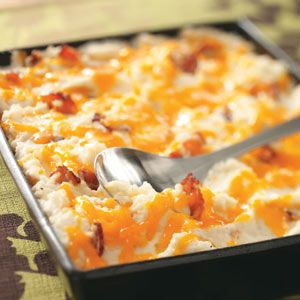 Twice baked mashed potatoes...maybe another recipe for thanksgiving
