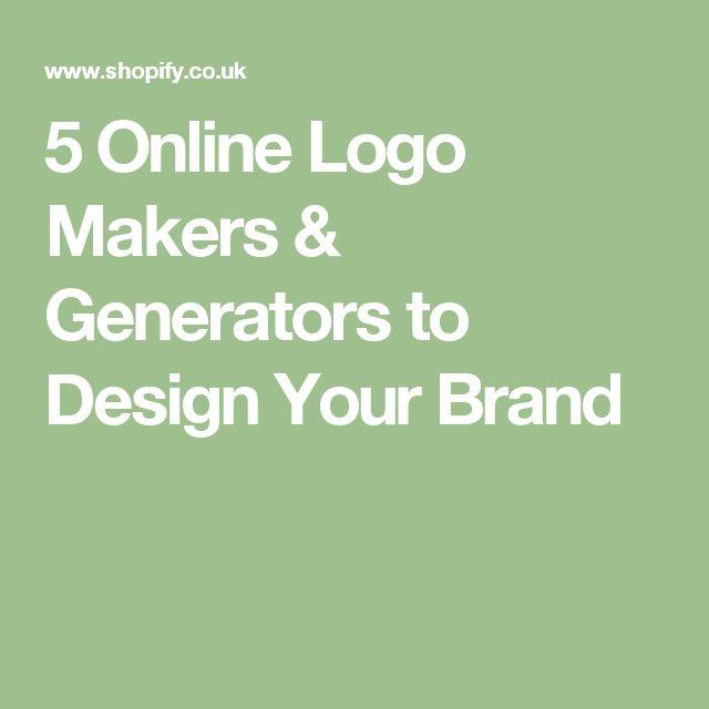 5 Online Logo Makers & Generators to Design Your Brand
