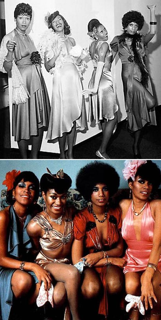 The Pointer Sisters then and then later! - saw them at the Mill Run Theater. Their voices were beyond great. They sang in unison, pitch perfect, with gospel inflections, R&B, and more. Love their performance. They lit up the stage.